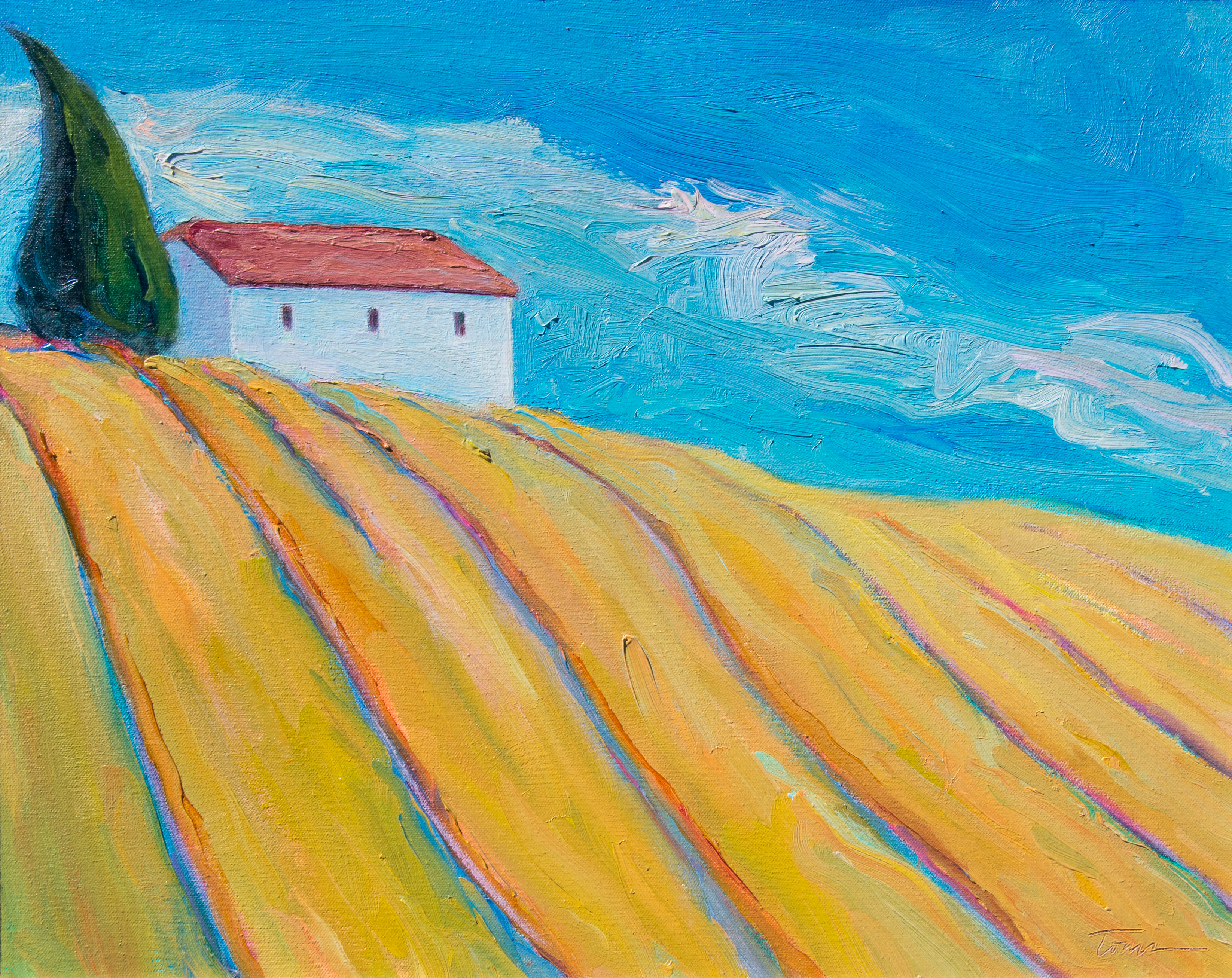 Leslie Toms, House On A Windy Hill – Tuscany, 2003