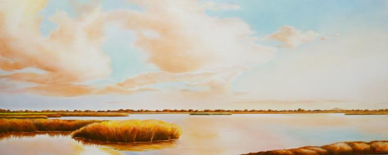 Manuel Nunes, Sunset By The Pond, c. 2002