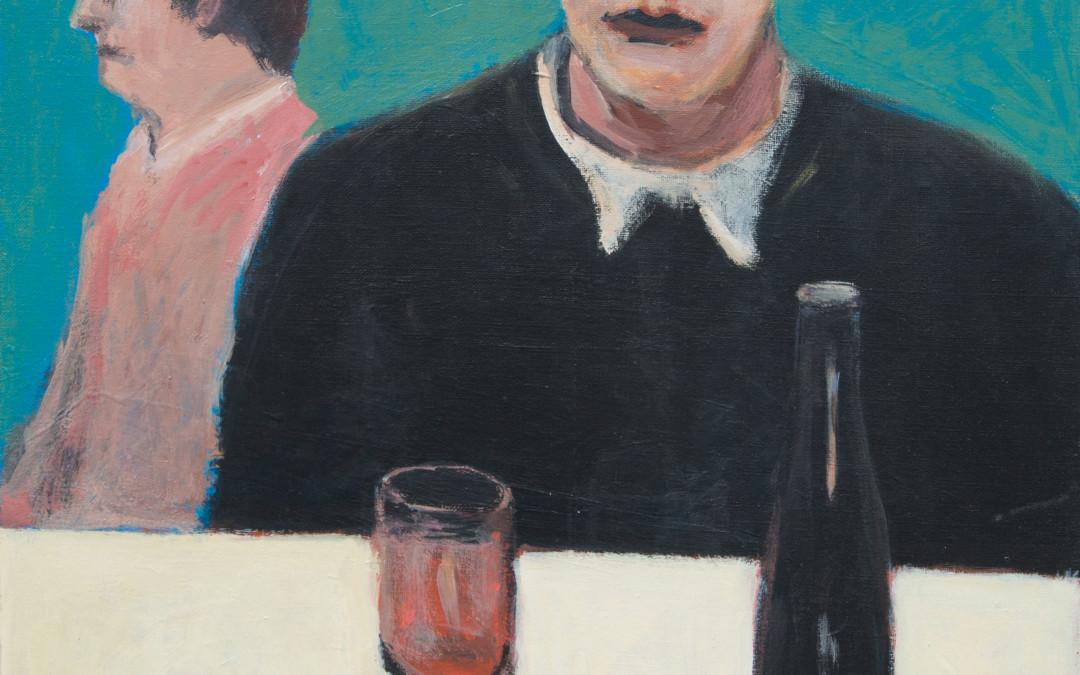 Alan Post, Man, Woman, Bottle Of Wine, 1970
