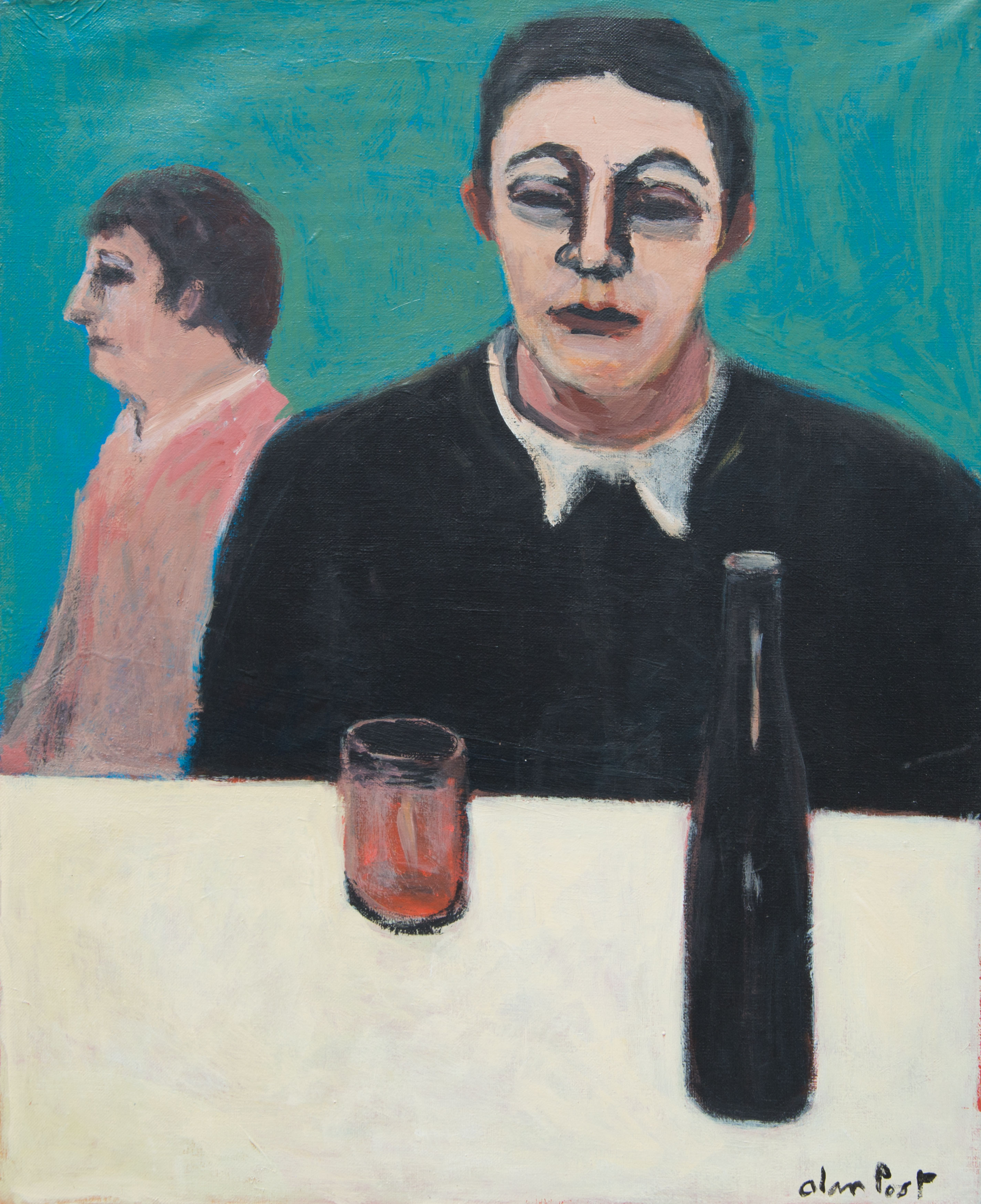 Alan Post, Man, Woman, Bottle Of Wine, 1970