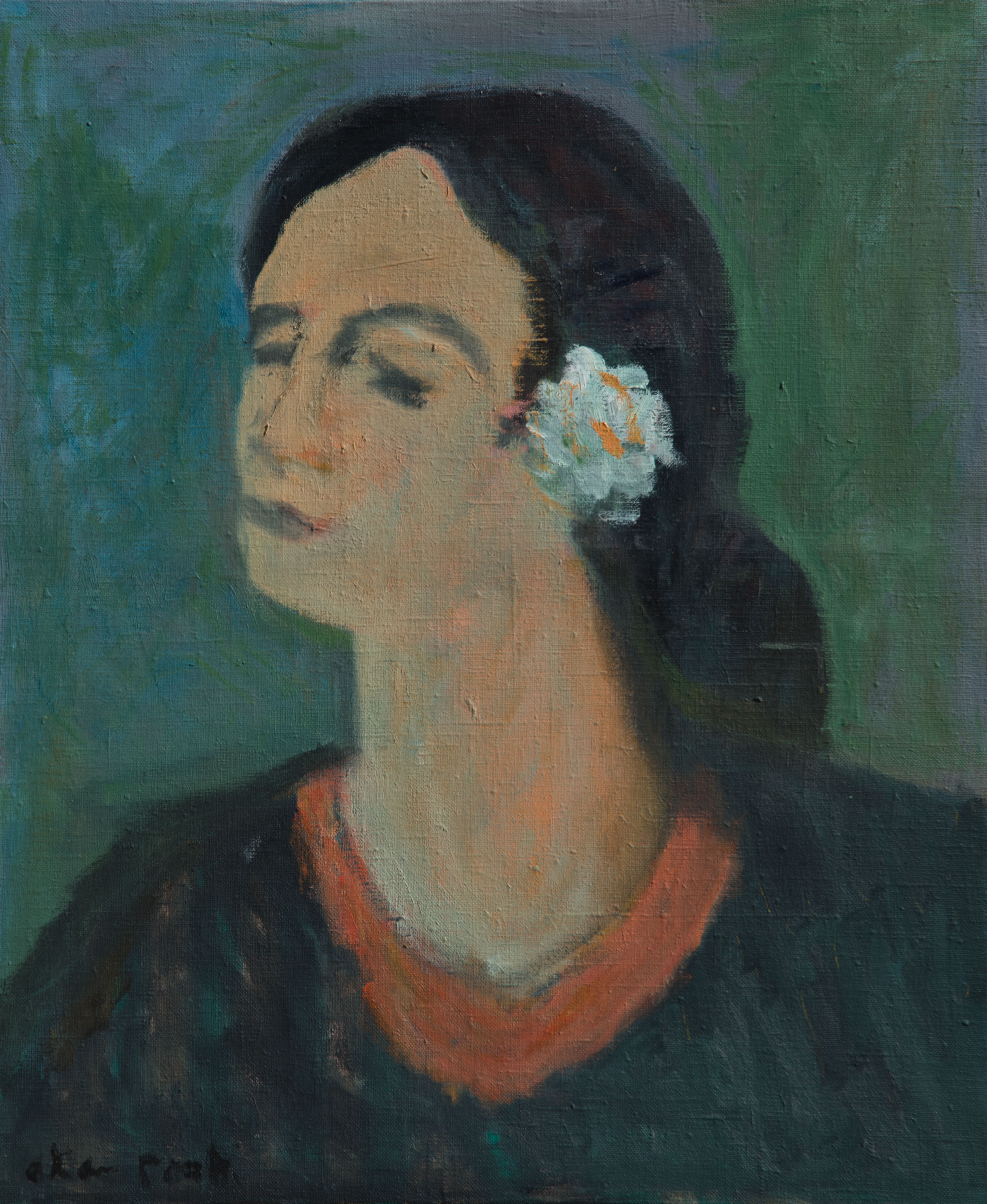 Alan Post, Woman With White Flower