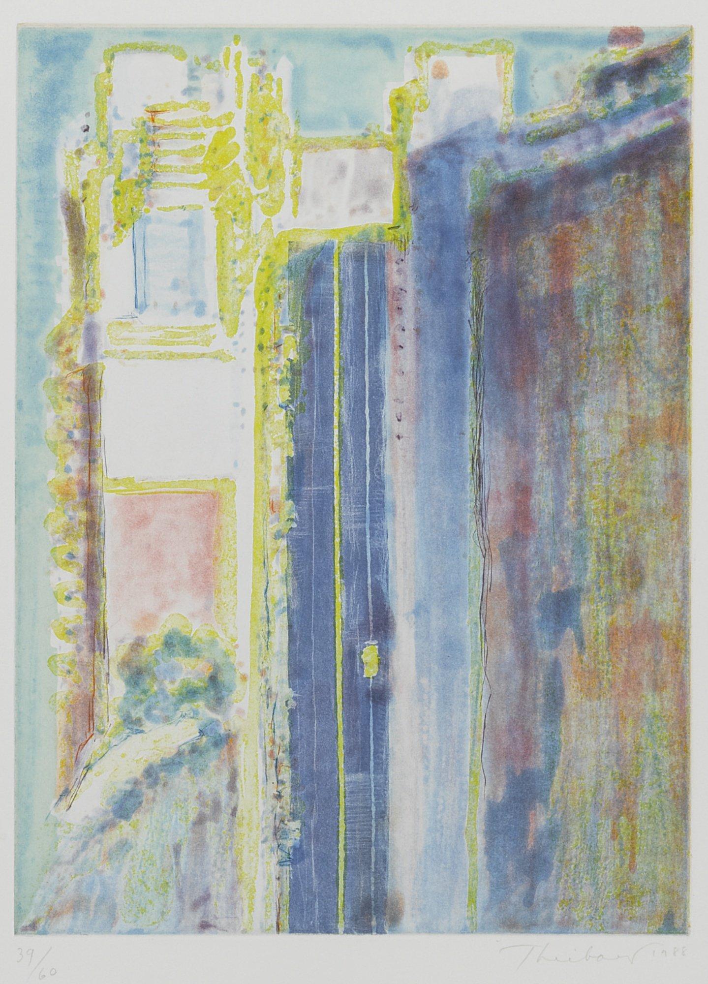 Wayne Thiebaud, City Edge 39/60, 1988