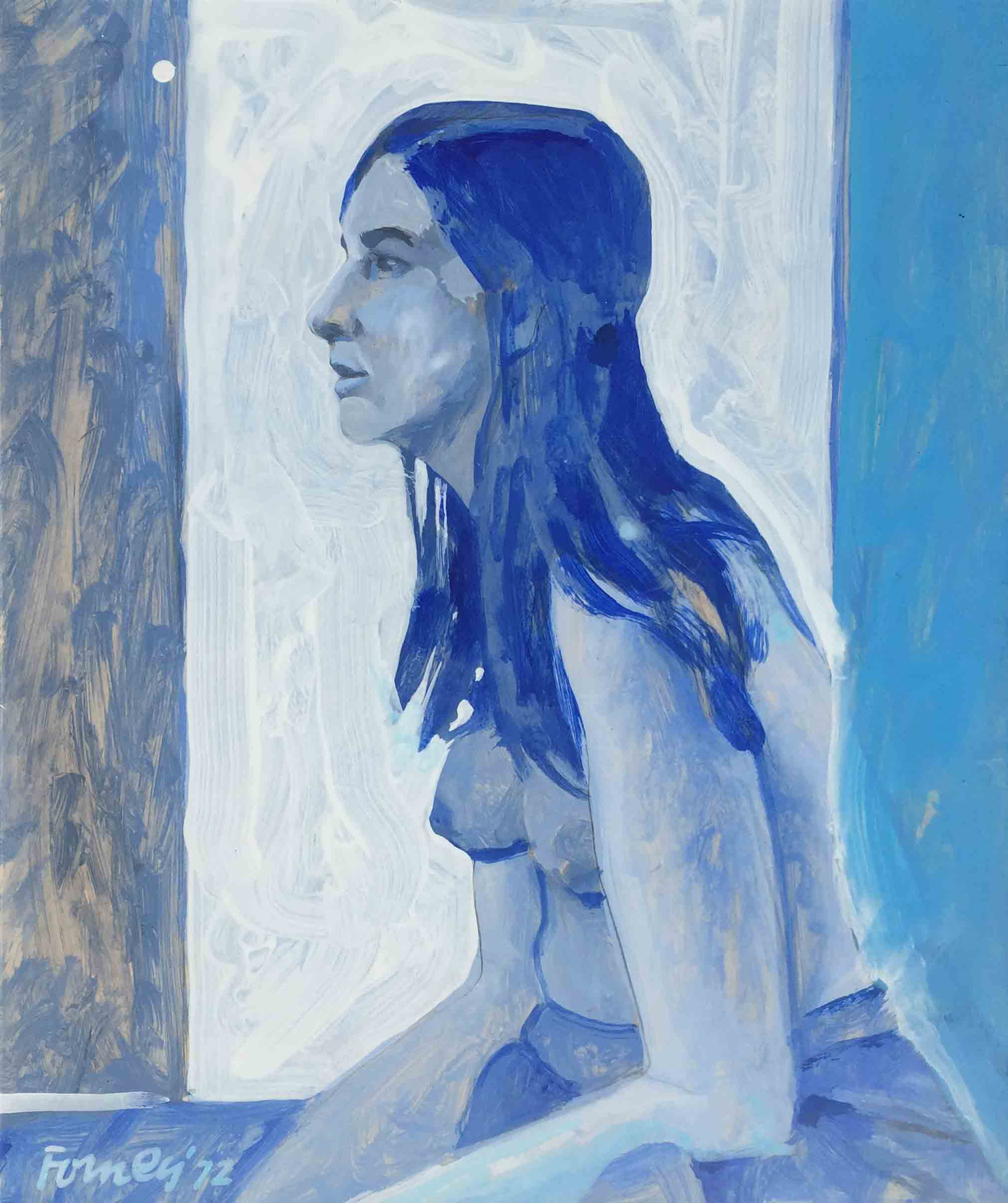 Darrell Forney, Blue Seated Figure, 1972