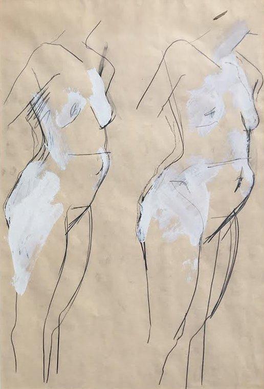 Manuel Neri, Two Torsos, c. 1980