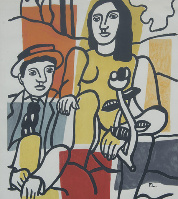 Fernand Leger, Man Woman And Flower 484/600