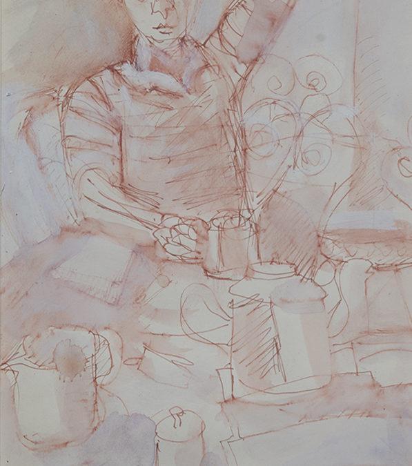 Alan Post, Figure With Coffee Pots