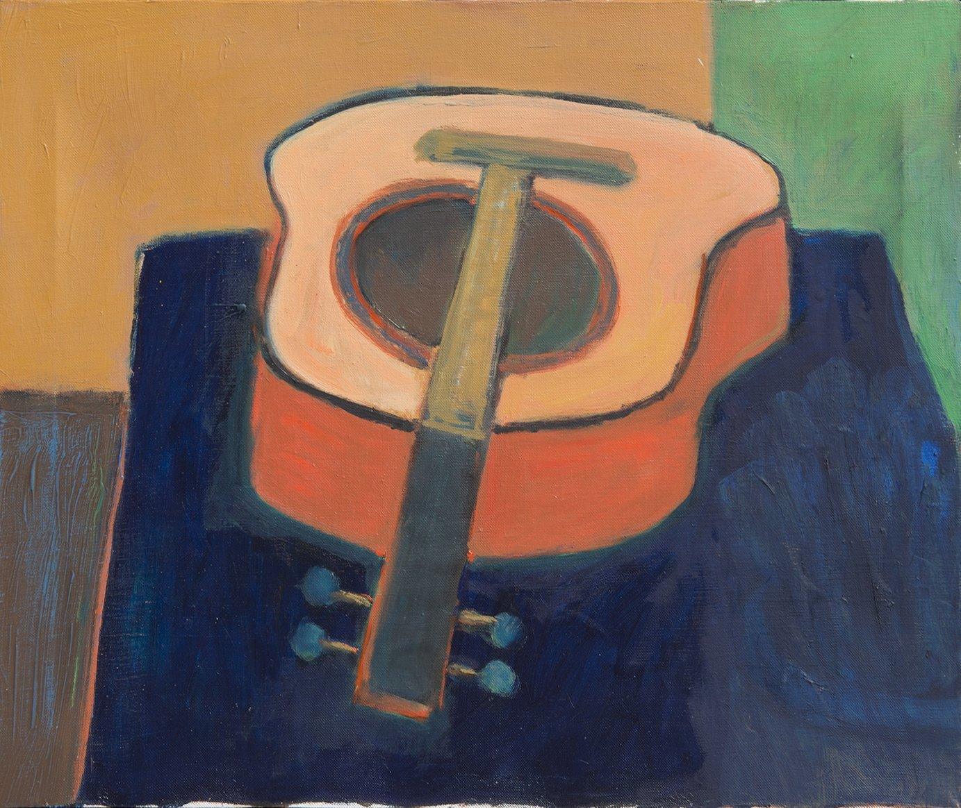 Alan Post, Guitar Foreshortened, 1975