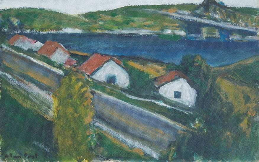 Alan Post, White Houses With Red Roofs