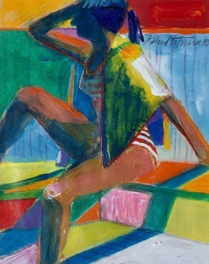 Roland Petersen, Study For A Sunbather, 1993