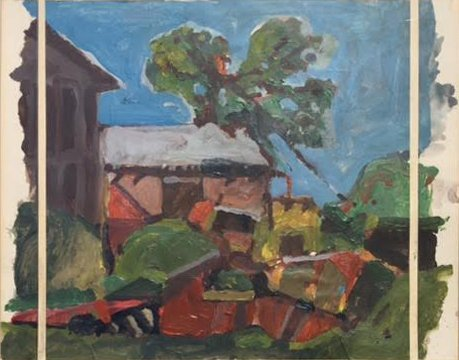 Darrell Forney, Landscape With Trimmed And Separated Edges