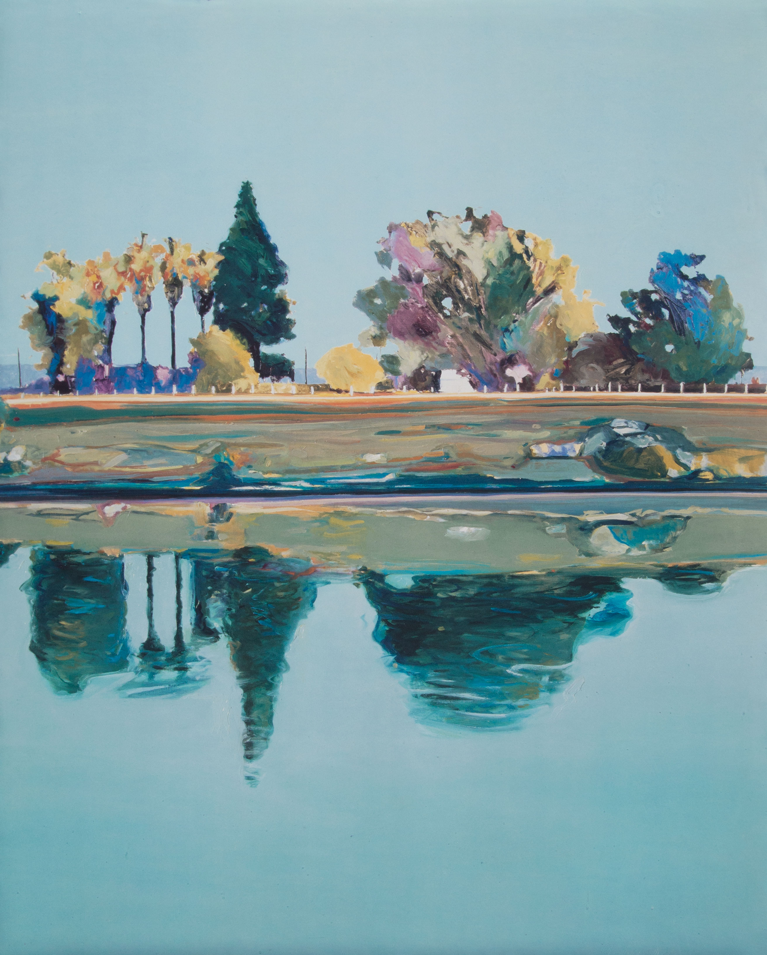 Gregory Kondos, River Palms, 1999