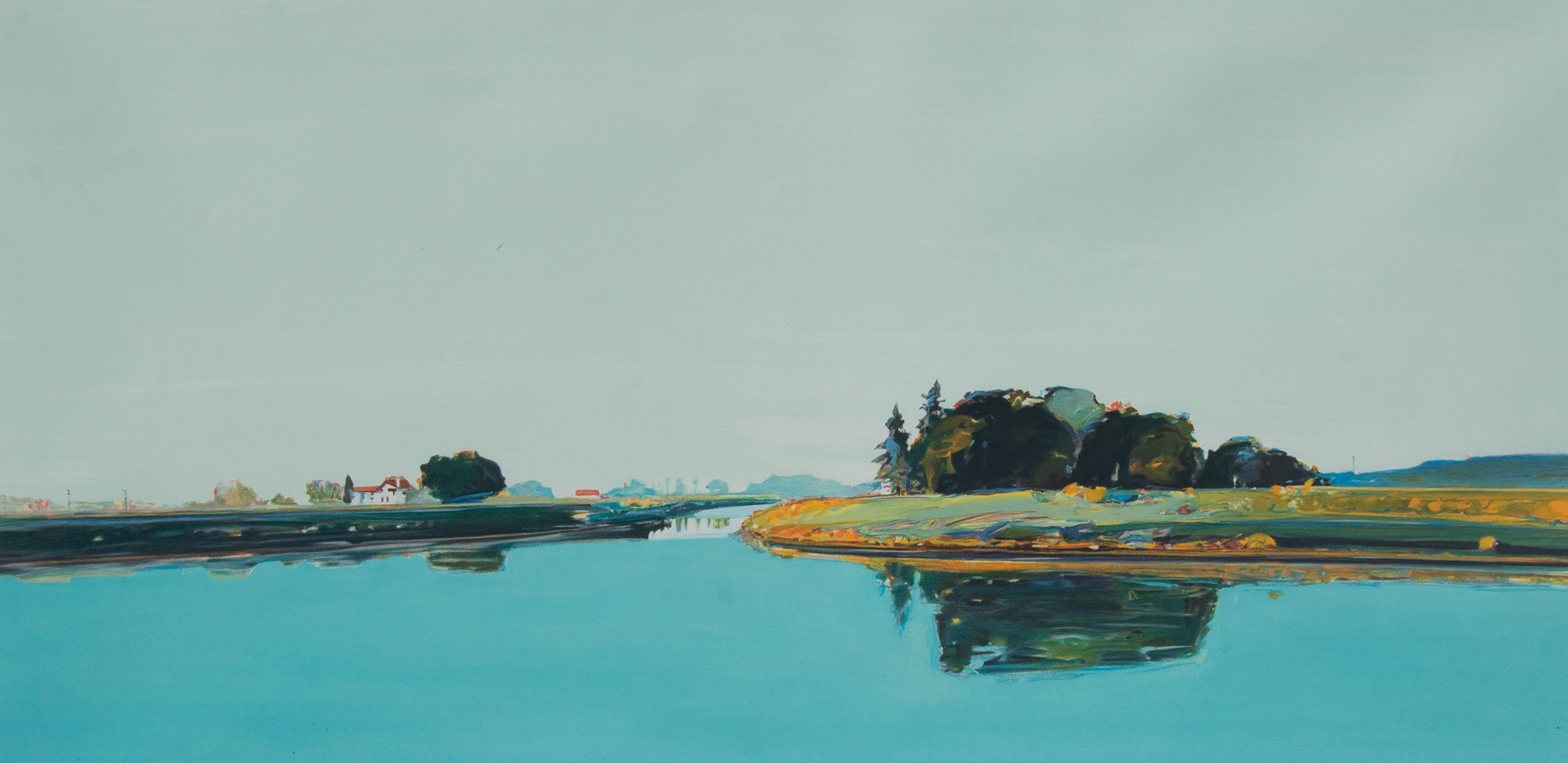 Gregory Kondos, River View 76/100, 1990