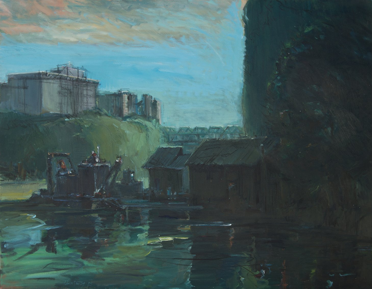 Patrick Dullanty, River Marina, 1985