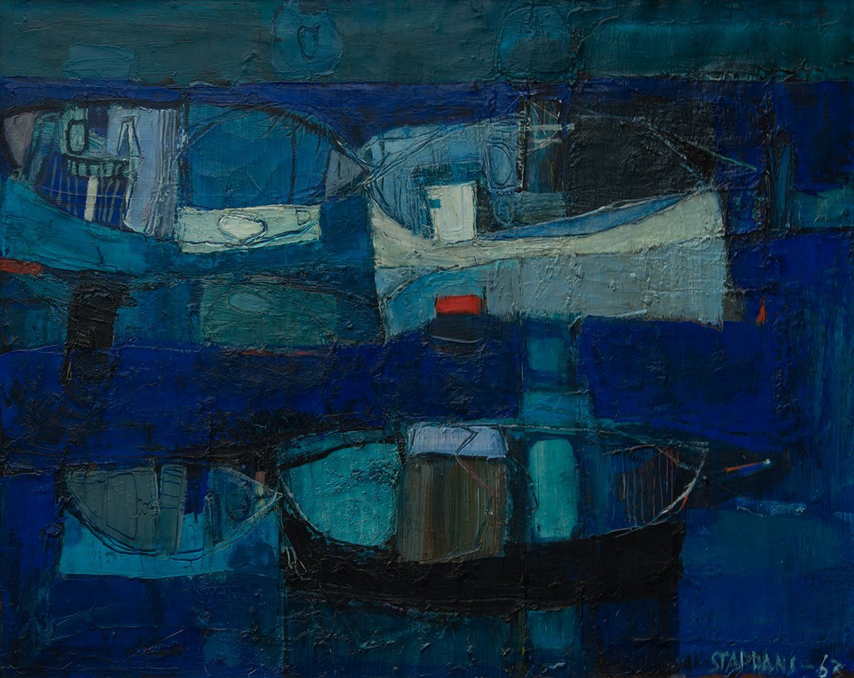 Raimonds Staprans, Harbor In Blue, 1963
