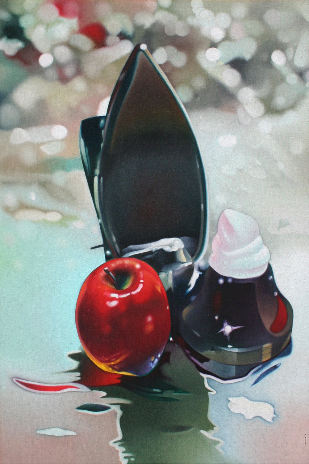 Gary Pruner, Apple Foam, 1973
