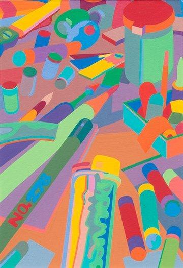 Gary Pruner, Untitled #14 Art Supplies, 1976