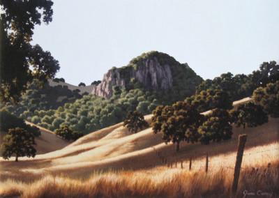 Carey, June – Untitled Landscape With Grassy Hills